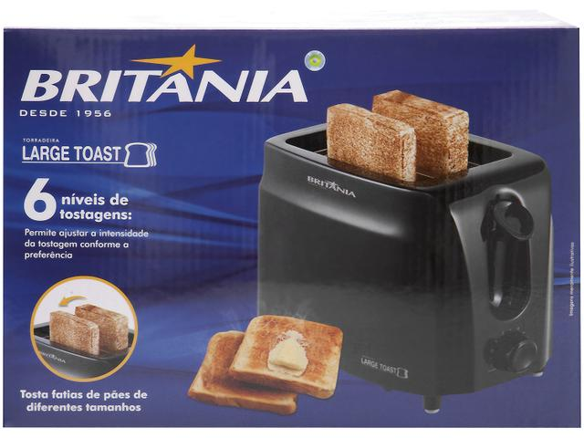 Imagem de Torradeira Britânia Preta Large Toast