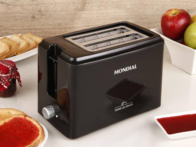 Imagem de Torradeira Mondial Preta Toast Due Black T-05