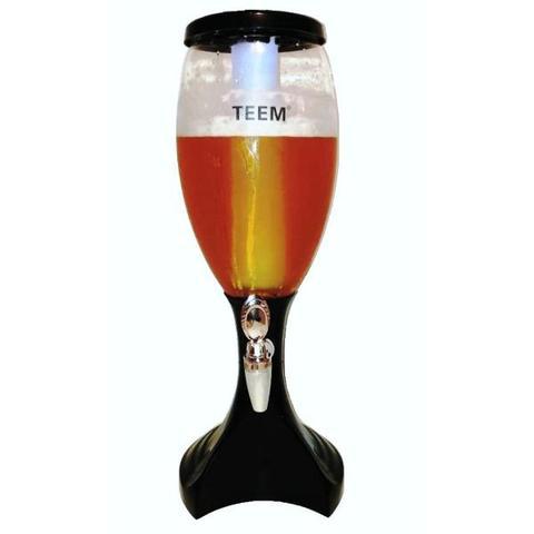 Imagem de Torre Chopp 3 Litros Iluminada Led Chopeira Cerveja 2 Refis TEEM Modelo TM 5820