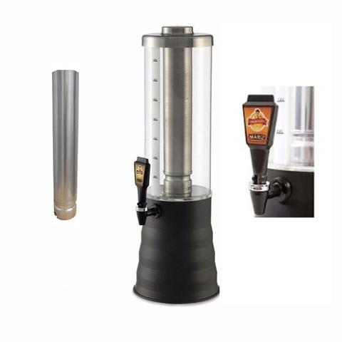 Imagem de Torre de Chopp 3,5 Litros Beer House Refil em Aluminio Torneira Alemã