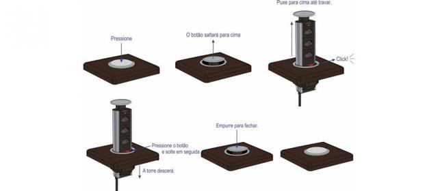 Imagem de Torre de Tomadas para Mesa Multiplug Renna