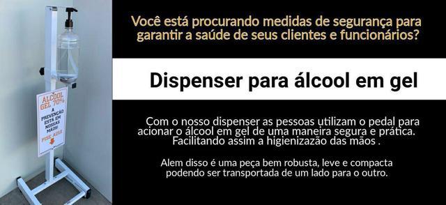 Imagem de Toten Suporte Dispenser Para Álcool Gel Pedal 100% de aço + brinde