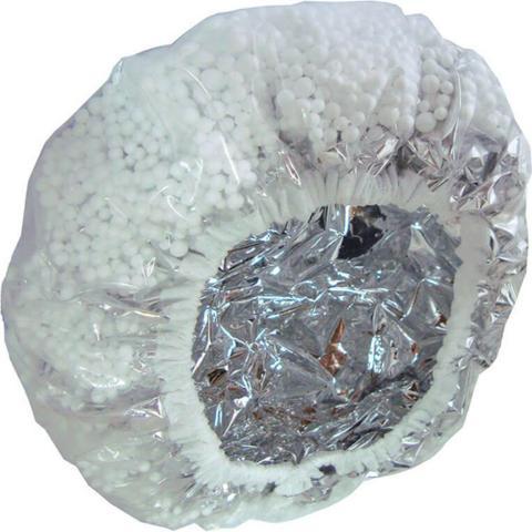 Imagem de Touca metalizada com isopor para hidratação marco boni