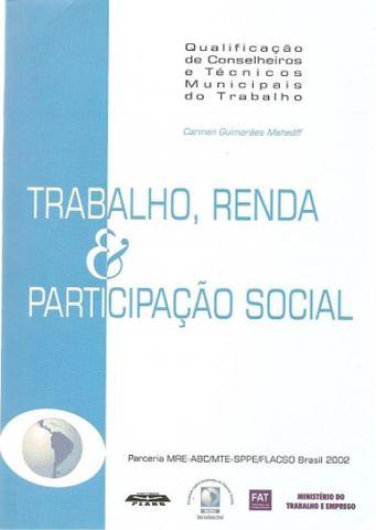 Imagem de Trabalho, renda & participação social - Plano Editora