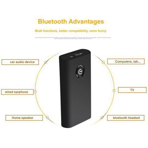 Imagem de Transmissor e Receptor de Áudio Bluetooth  2 em 1 Cancelamento de Eco e Ruído Ativo Bateria Recarregável Conexão Fácil Sem App e Driver