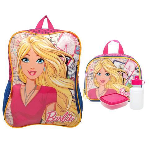 Imagem de Travel Barbie Kit Mochila com Lancheira - Sestini 065228