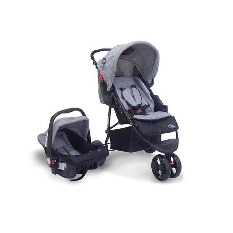 Imagem de Travel System (Carrinho + Bebê Conforto) Urban Cinza Baby Style