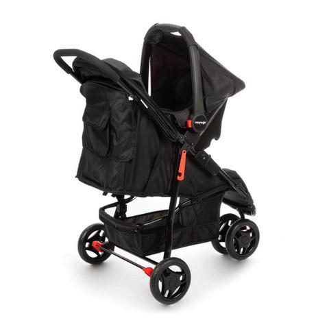 Imagem de Travel System Carrinho de Bebê com Bebê Conforto Voyage Delta Preto