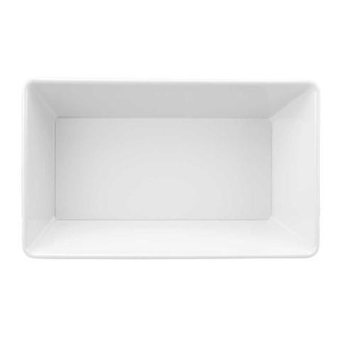 Imagem de Travessa Buffet 25 X 15 cm 1100 ml Branco Em Melamina 100 Profissional Gourmet Mix GX5389