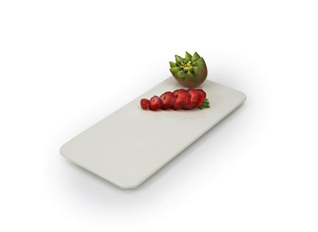 Imagem de Travessa para Sushi Reta Melamina 35 x 16 cm Branca Gourmet Mix Marcamix - MMX 028