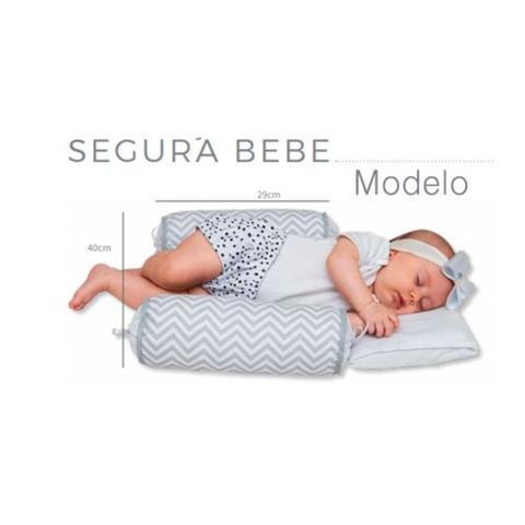 Imagem de Travesseiro Anti-refluxo De Carrinho+rolinho Segura Bebe nuvem