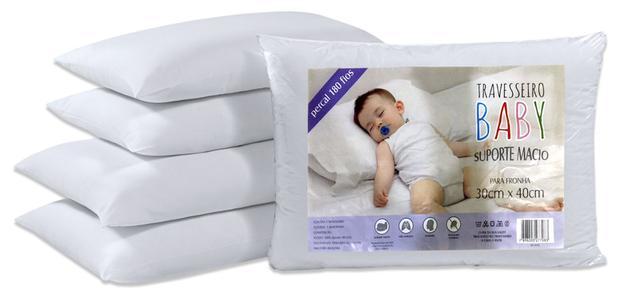 Imagem de Travesseiro Baby Percal 100 Algodão Macio Antialérgico 1144