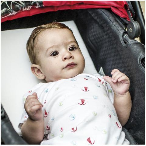 Imagem de Travesseiro com inclinçao kiddo cochilo p/carrinho