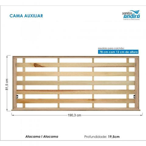 Imagem de Treliche Solteiro com 3 Gavetas Havana Plus Santos Andirá Atacama