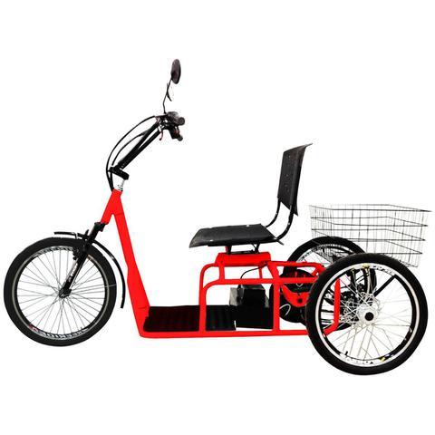 Imagem de Triciclo Elétrico 800W Aro 20 Freio a Disco Confort Vermelho