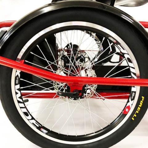 Imagem de Triciclo Elétrico 800W Freio a Disco com Ré Farol e Alarme Fox Vermelho - Duos Bike