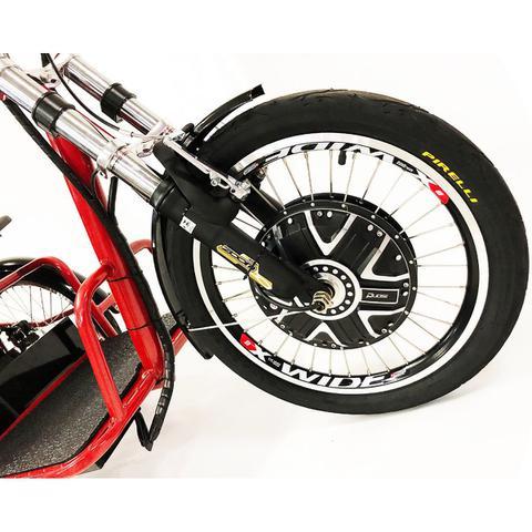 Imagem de Triciclo Elétrico 800W Freio a Disco com Ré Farol e Alarme Fox Vermelho