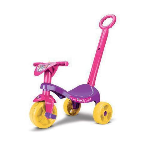 Imagem de Triciclo Empurrador Motoca Infantil Carrinho Passeio Menina