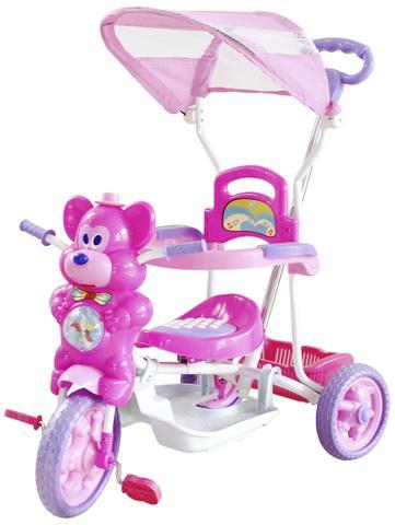 Imagem de Triciclo Infantil Bebe Motoca Passeio C/ Som Luz Empurrador