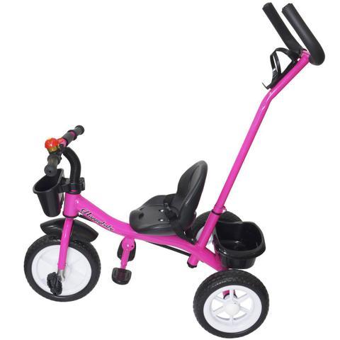 Imagem de Triciclo Infantil com Haste Empurrador Pedal Motoca Velotrol 2 em 1 Brinqway BW-082RS Rosa
