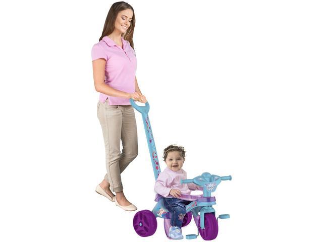 Imagem de Triciclo Infantil Frozen 3095 com Empurrador