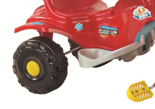 Imagem de Triciclo infantil motoca tico tico pets vermelho