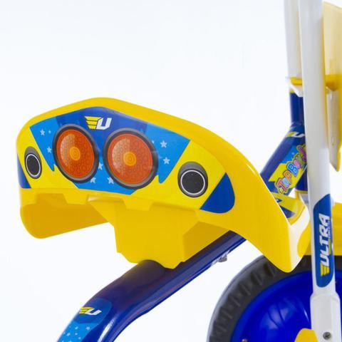 Imagem de Triciclo Infantil Motoca Velotrol Top Boy Jr Ultra Bikes Azul/Amarelo