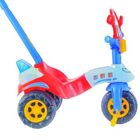 Imagem de Triciclo Infantill Motoca Red Avião Tico Tico Vermelho e Azul