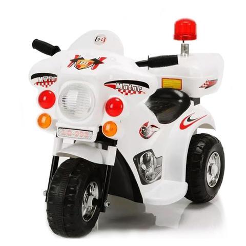 Imagem de Triciclo Mini Moto Elétrica Motorizada Infantil Pop Branca