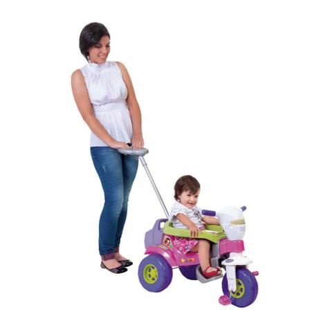 Imagem de Triciclo Motoca Infantil Bichos Com Hastes tico Sons e Luzes