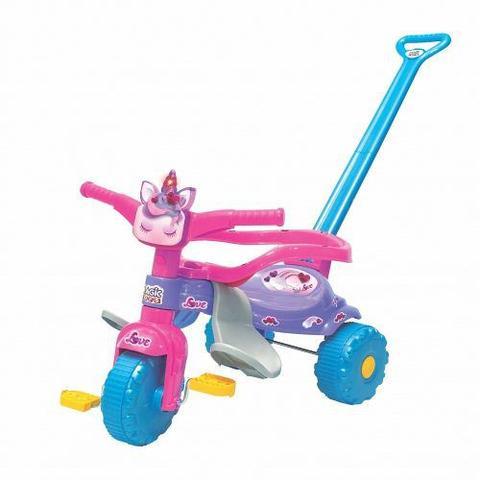 Imagem de Triciclo Motoca Infantil Tico Tico Unicornio Com Luz 2570