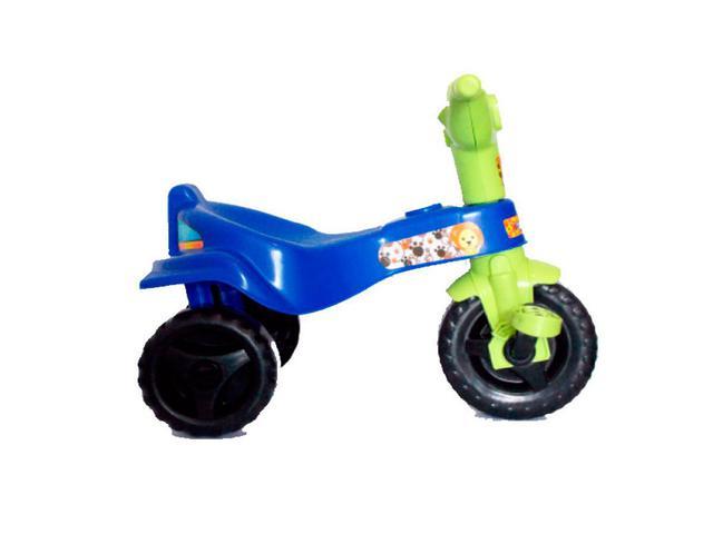 Imagem de Triciclo Motoca Velotrol Tico Tico Infantil Azul Omotcha