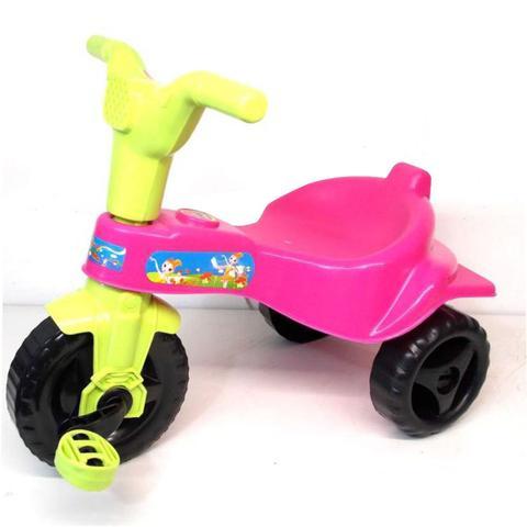 Imagem de Triciclo Rosa Motoca Criança Adesivos Menina Desmontavel