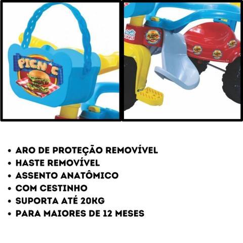 Imagem de Triciclo Velotrol c/ Proteção e Haste Tico Tico Pic Nic Azul