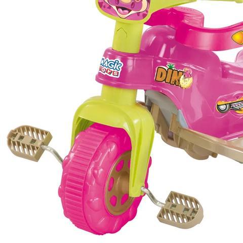 Imagem de Triciclo Velotrol Motoca Tico Tico Dino Pink - Magic Toys