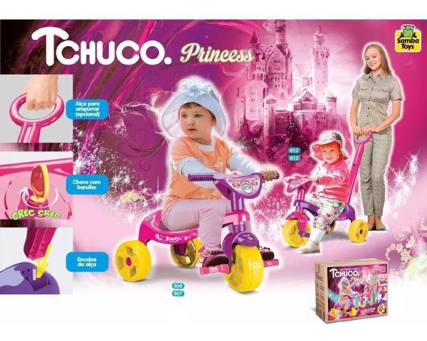 Imagem de Triciclo Velotrol Princesa Motoca Velocípede Tchuco P Menina