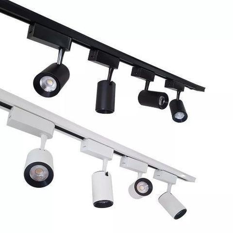 Imagem de Trilho Eletrificado Luminária 1m Branco ou Preto