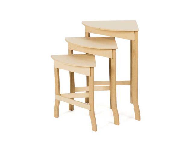 Imagem de Trio de mesa de canto para sala em madeira mdf