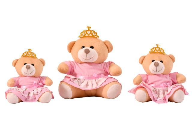 Imagem de Trio Urso Para Nichos Princesa  Rosa Claro