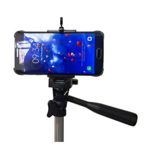 Imagem de Tripé Câmera para Celular Altura 150 cm Nível Bolsa e Suporte de Brinde TM 3150