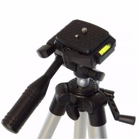 Imagem de Tripe De Aluminio Universal 1,20 Metro Celular Camera Com Bolsa