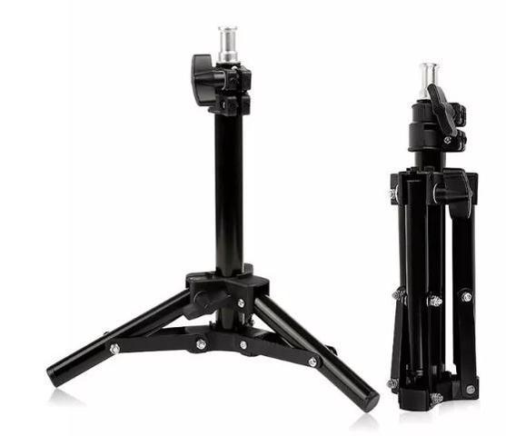 Imagem de Tripe Iluminação Estudio Fundo 50cm Iluminador Mini