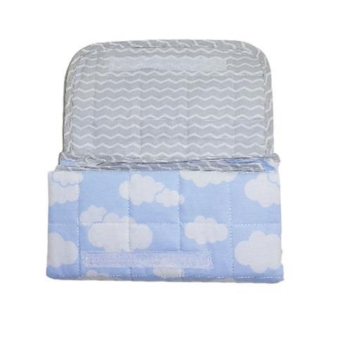 Imagem de Trocador Portatil Bebe de Bolsa Impermeavel Tecido Nuvem Azul