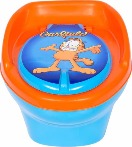 Imagem de Troninho GARFIELD Infantil Pinico Para Bebe 2 Em 1 Azul/Laranja - Styll Baby