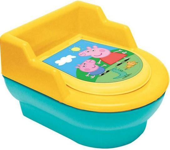 Imagem de Troninho Infantil Penico Para Bebê Desfralde Vaso Sanitário Tampa Pinico Removível Peppa Pig Elka