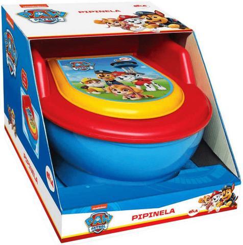 Imagem de Troninho Infantil Penico Para Bebê Meninos Desfralde Vaso Sanitário Com Tampa Pinico Removível Patrulha Canina Elka