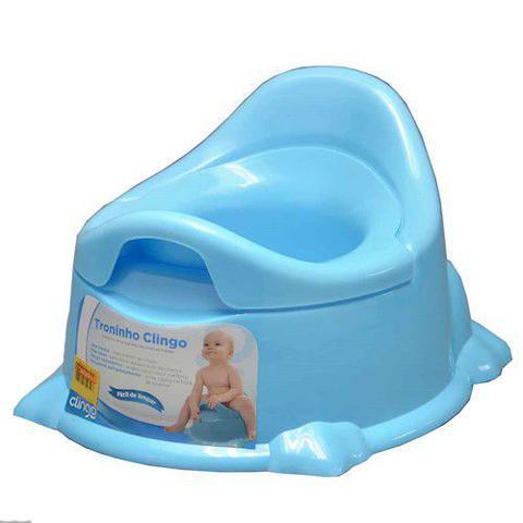 Imagem de Troninho Infantil Penico Pinico Potty Azul Clingo