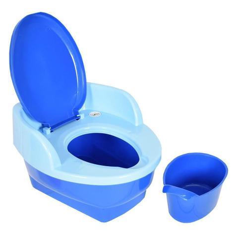 Imagem de Troninho Musical Infantil 3 Em 1 Azul Penico Degrau Love