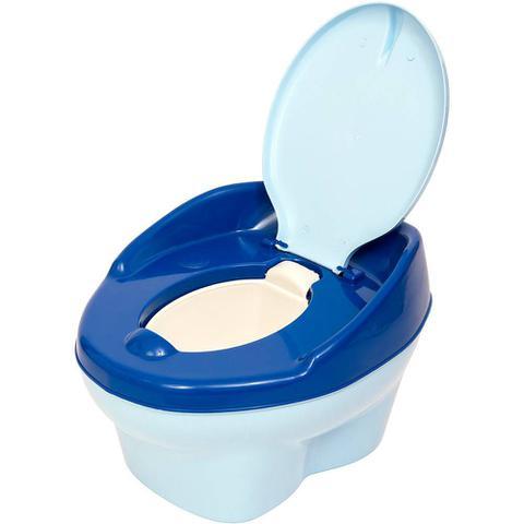 Imagem de Troninho Musical Urso Infantil Pinico Para Bebe 2 Em 1 Azul - Styll Baby