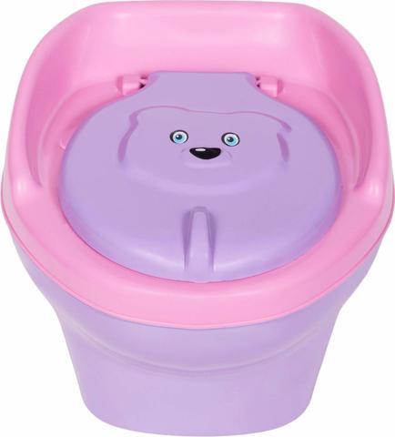 Imagem de Troninho Musical Urso Infantil Pinico Para Bebe 2 Em 1 Rosa/Lilás - Styll Baby